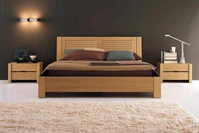 30 modelos de camas de madeira de casal e solteiro for Modelos de cama
