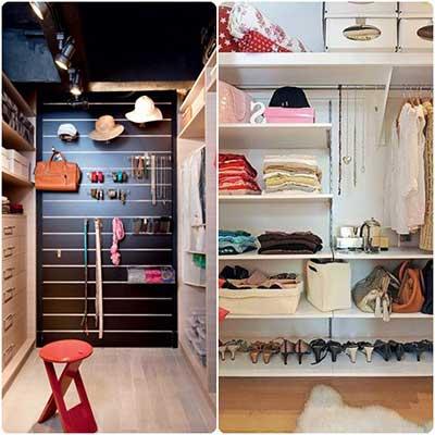 dicas e ideias para decorar o closet pequeno e grande