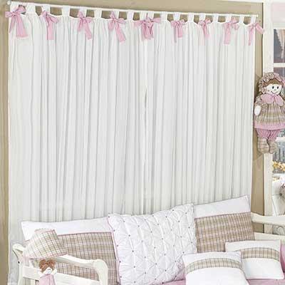 Cortinas para quarto do beb for Modelos de cenefas para cortinas