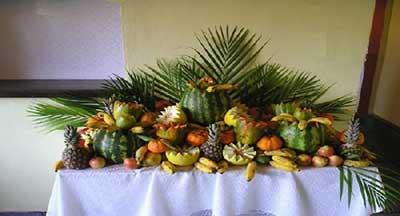 decorar com frutas em casa