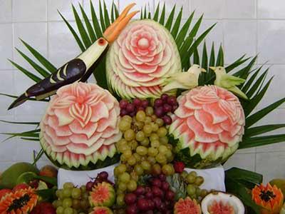 como decorar com frutas