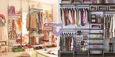 decoração de closets