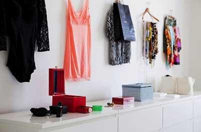 ideias de decoração de closets