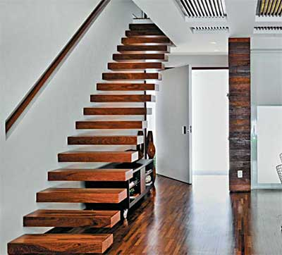 modelos de escadas de madeira