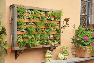 como fazer jardim suspenso