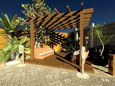 imagem de decoração de jardim