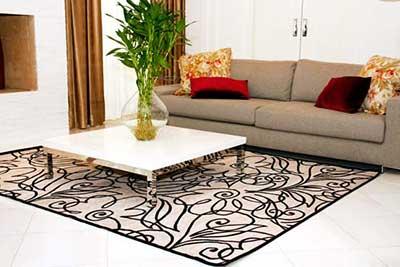 decoração com tapetes indianos