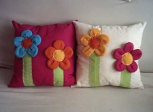 fotos de almofadas coloridas