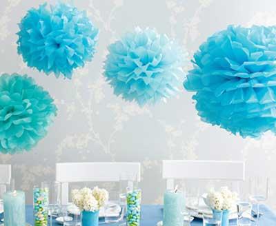 decoração com papel de seda