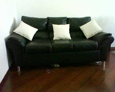 imagem de sofá preto