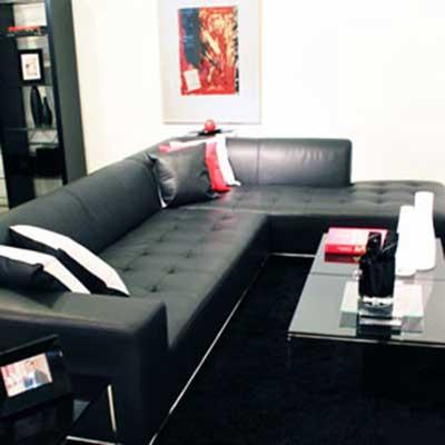 35 modelos de sof s pretos para decora o fotos e dicas - Modelos de cojines para sofas ...