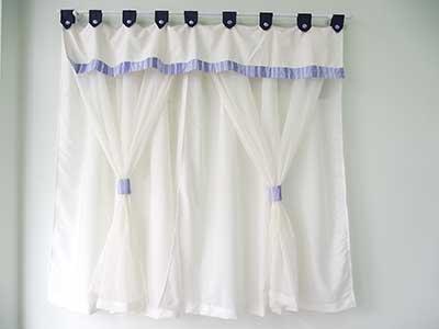 modelos de cortinas para quarto de bebê
