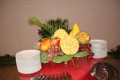 decorar com frutas