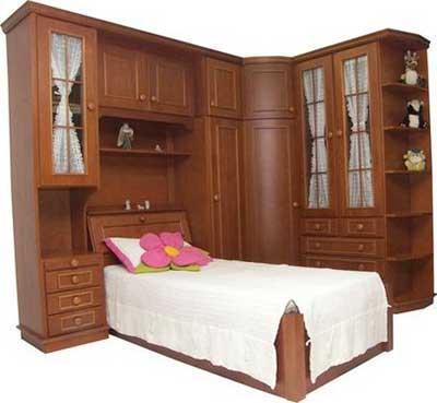 fotos de camas de madeira
