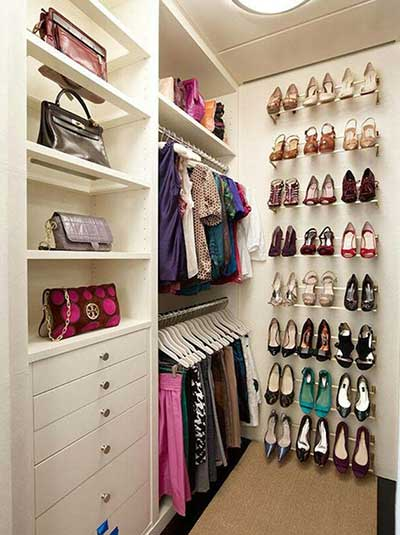 Closets pequenos modernos funcionais bonitos e decorados for Walking closet modernos pequenos