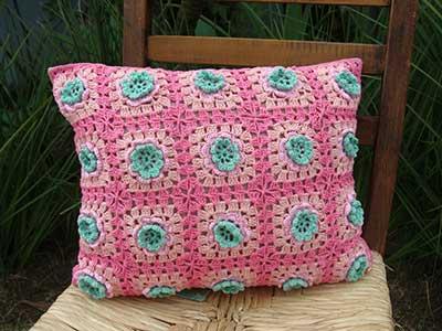 imagens de almofadas de croche
