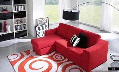 modelo de sofá vermelho