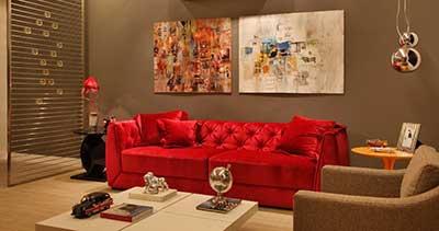 dica de sofá vermelho