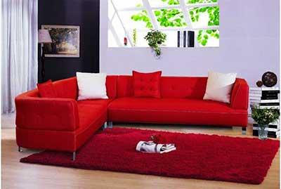 Decora o com sof vermelho para salas fotos e modelos - Modelos de cojines para sofas ...