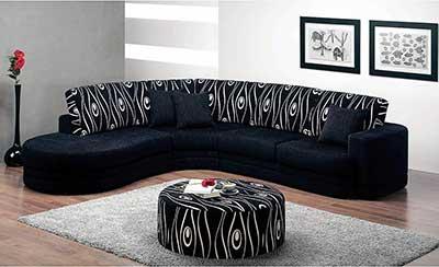 sofás pretos da moda