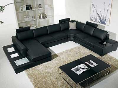 fotos de sofás pretos