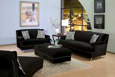 imagens de sofás pretos