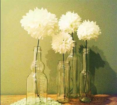 fotos de decoração com papel de seda