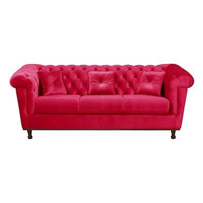 modelos de sofás vermelhos