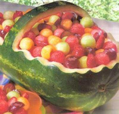 ideias para decorar com frutas