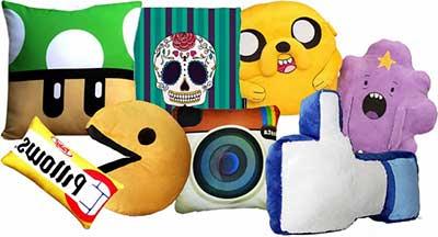 almofadas diferentes