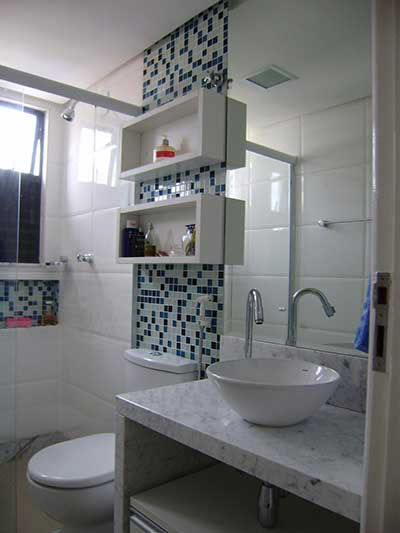 Fotos de Banheiros Decorados com Pastilhas -> Banheiros Decorados Incepa