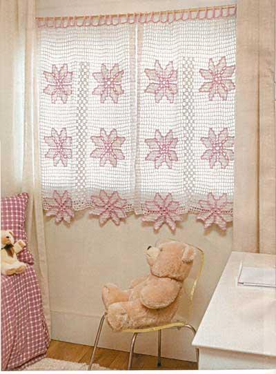 imagens de cortinas de crochê
