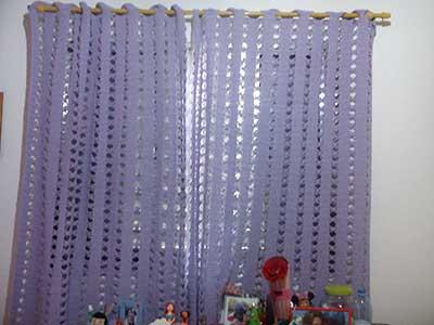 dicas de cortinas de crochê