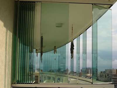 modelos de cortinas de vidro