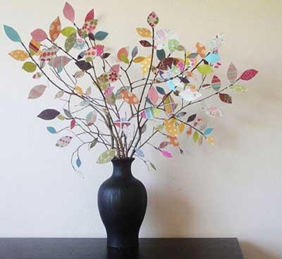 como decorar com galhos secos