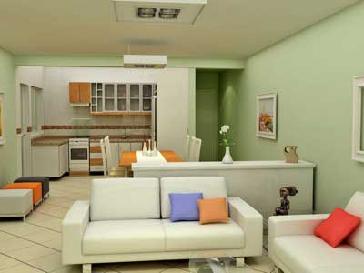 Decora o de casas simples pequenas modernas ideias for Como decorar interiores de casas pequenas