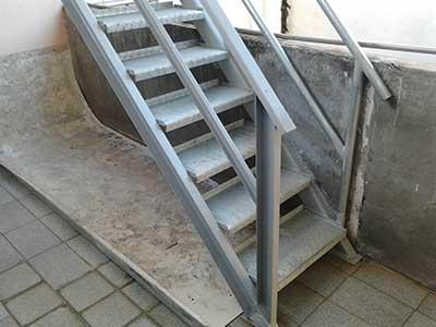 Modelos de escadas de ferro