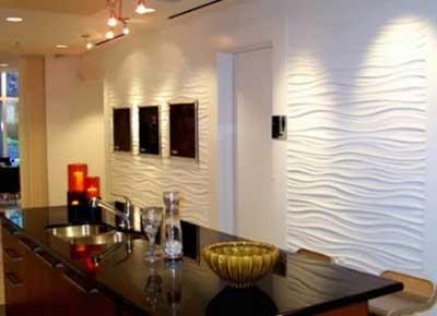Paredes decoradas com texturas fotos e dicas for Paredes decoradas para salas