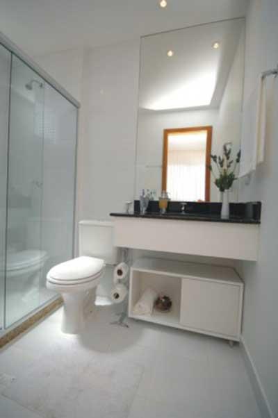 30 Luminárias para Banheiros Espelho, Pendentes, Fotos -> Banheiro Decorado Com Luminaria