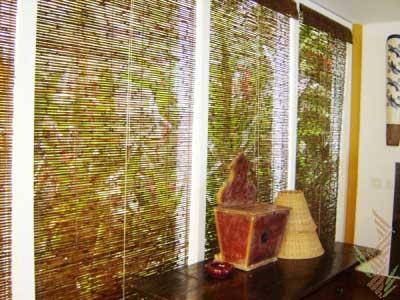30 modelos de cortinas de bambu para decora o de casa - Telas rusticas para cortinas ...