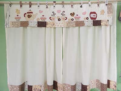 cortina para cozinha como fazer marrom