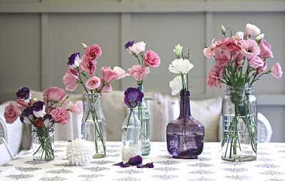 dicas de decoração com garrafas