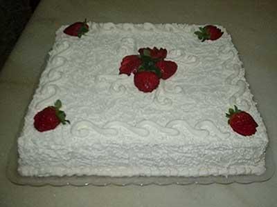 fotos de bolo de chantilly