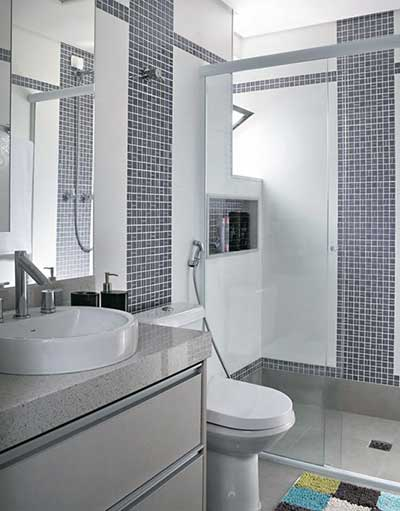 Fotos de Banheiros Decorados com Pastilhas -> Banheiros Com Pastilhas E Azulejos