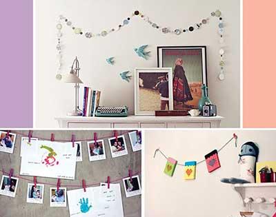 paredes decoradas com fotos