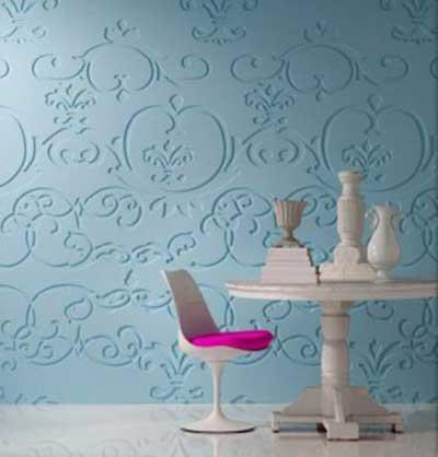 Paredes decoradas com texturas fotos e dicas - Cabeceras pintadas en la pared ...