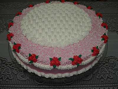 decoração de bolos de chantilly