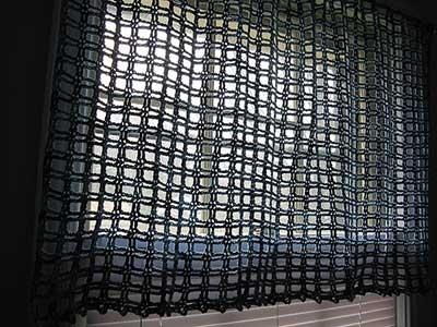 modelo de cortina de croche