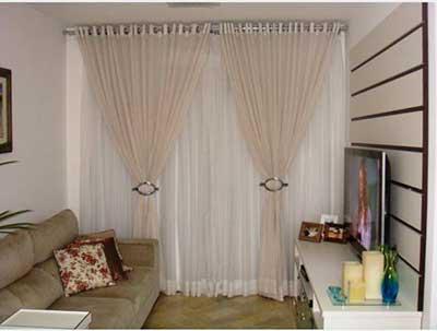 20 cortinas de var o duplo com argolas fotos modelos for Modelos de cortinas