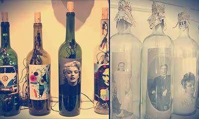 imagens de decoração com garrafas
